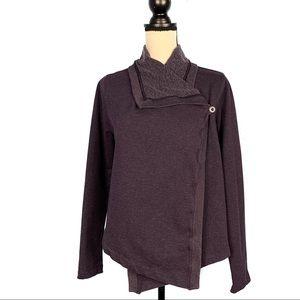 Patagonia Purple Ahnya Wrap Draped Sweater